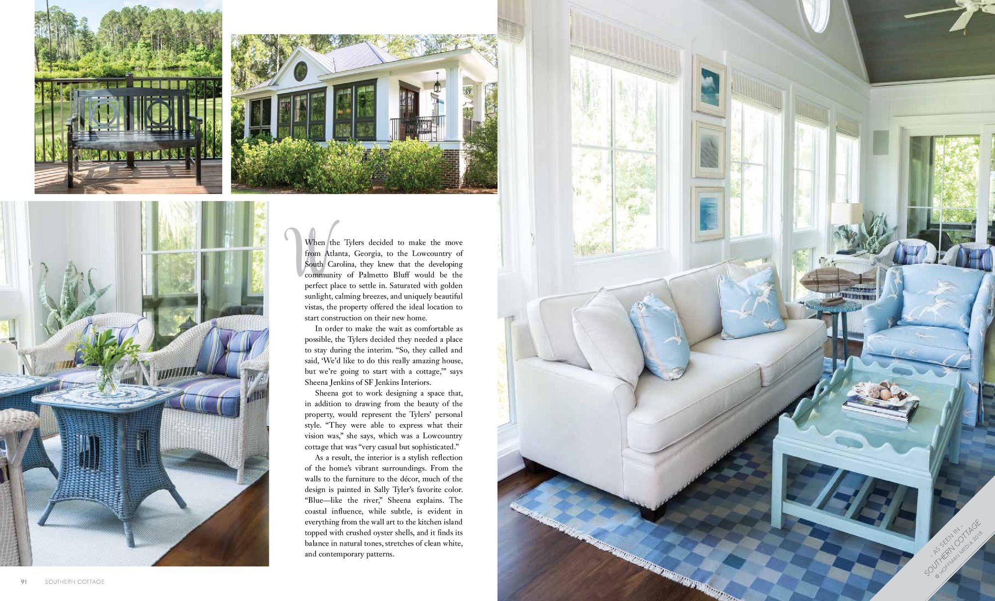 SF Jenkins Interiors Press - Southern Cottage