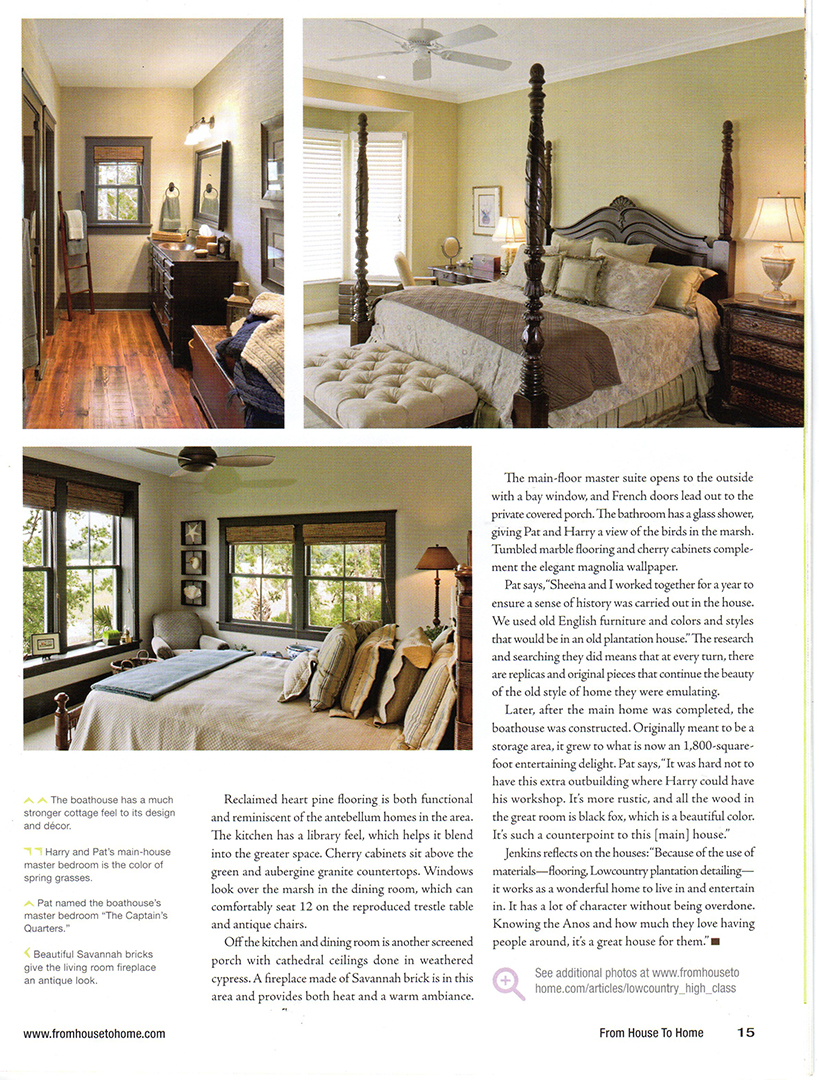 SF Jenkins Interiors Inc. | House to Home Magazine